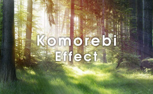 Photoshop 木漏れ日や降り注ぐ光を簡単に表現する方法