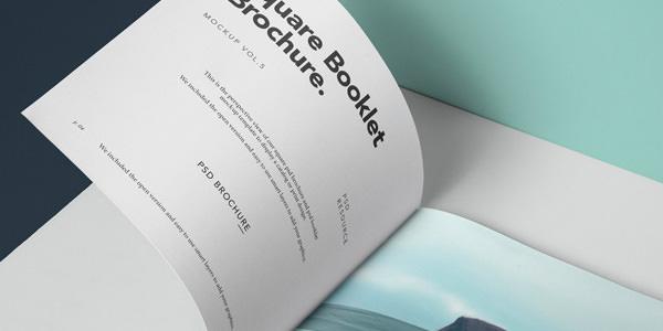 案内パンフレットなどに最適な冊子タイプのモックアップ