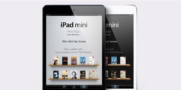 iPad miniのベクターモックアップ