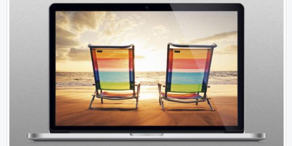Mac Book pro リテナディスプレイのモックアップ
