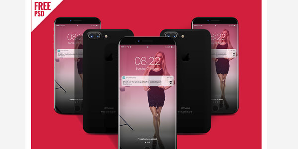 ゴージャスな外観のiPhone8用モックアップ
