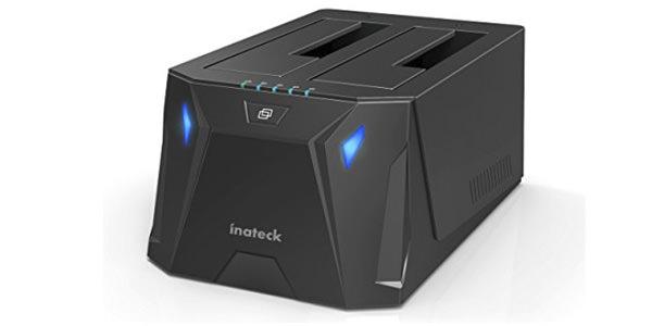 Inateck USB3.0-SATAデュアルベイハードドライブドッキングステーション オフラインクローン機能付き